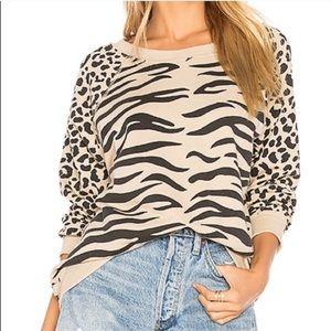 NWT Wildfox Easy Tiger Animal Print Sweater